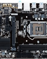 Placa de baza Ultra Durable Gigabyte B150M-D2V DDR3:  Socket CPU placat cu aur